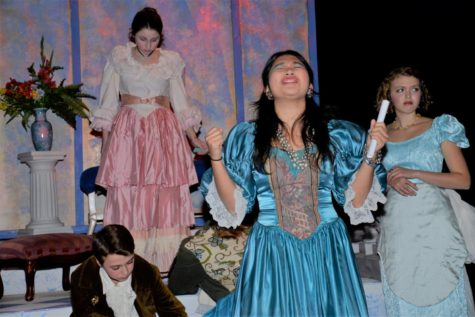 The Falmouth Academy Players in <i>Beauty and the Beast</i>  Attribution: FA Faculty, Susan Moffat