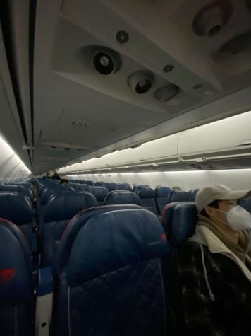 My flight from Boston to New York had around five passengers on board.