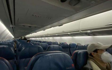 My flight from Boston to New York had around five passengers on board.