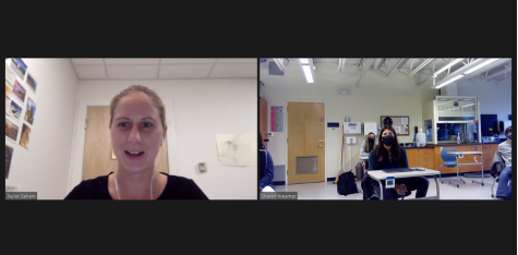 WHOI Scientist Taylor Sehein speaks to the WISE elective over Zoom