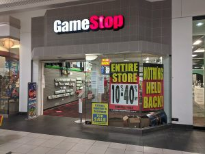 Gamestop stores (like this one in Melbourne, Australia) have been liquidating and closing for years